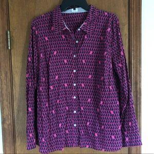 Crown & Ivy Bird print Button Down Shirt